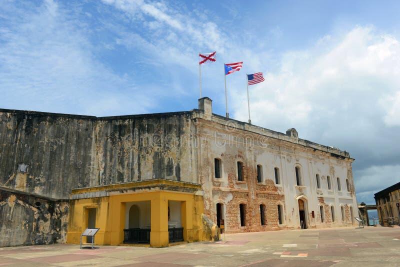 Castillo De San cristà ³ bal, San Juan fotografia royalty free