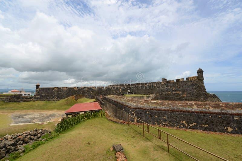 Castillo De San cristà ³ bal, San Juan zdjęcia stock