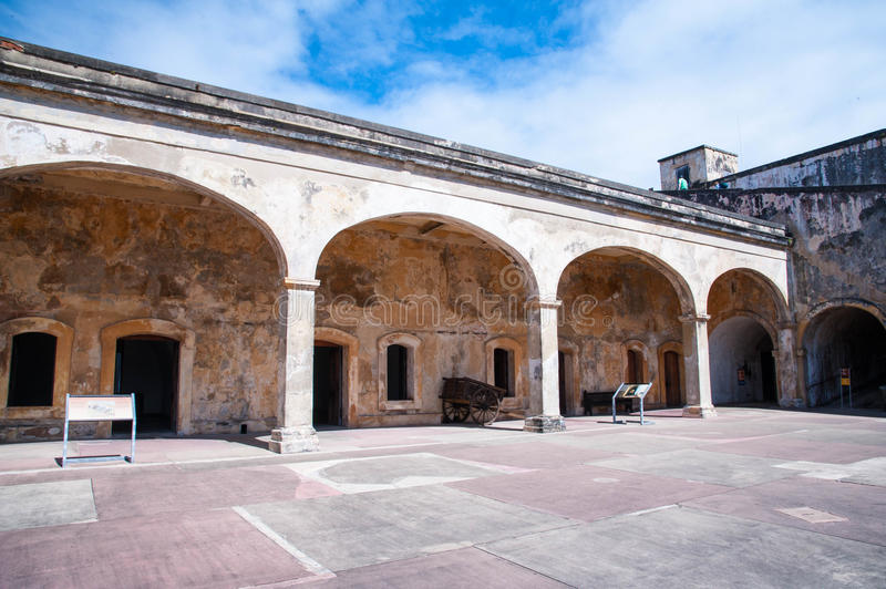 Castillo De San Cristobal fort arches. Arches over the entrance to one of the structures located within the Castillo de San Cristobal fort in old San Juan Puerto royalty free stock photos