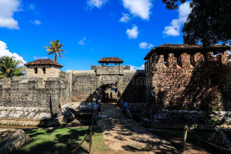 Castillo DE San Felipe de Lara, Guatemala royalty-vrije stock foto