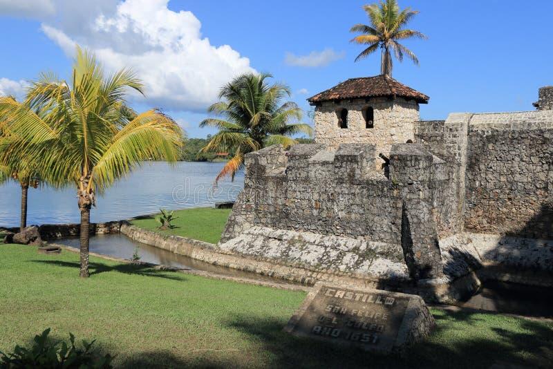 Castillo de San Felipe de Lara, Guatemala images libres de droits
