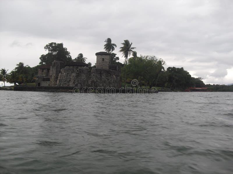 Castillo de San Felipe de Lara situé dans le lac de Rio Dulce, Izabal, Guatemala, Amérique Centrale 3 images libres de droits