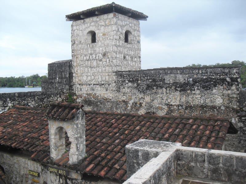 Castillo de San Felipe de Lara situé près du lac de Rio Dulce, Izabal, Guatemala, Amérique Centrale 28 photos libres de droits