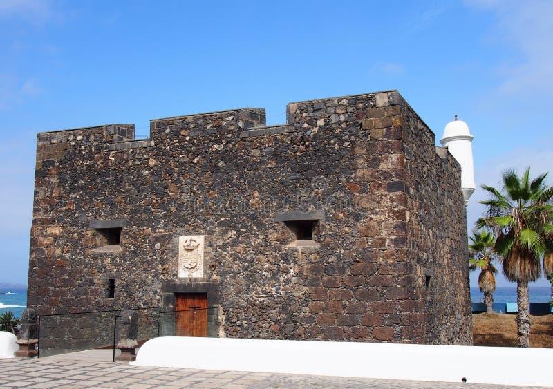 Castillo De San Felipe w puerto cruz Tenerife fotografia stock
