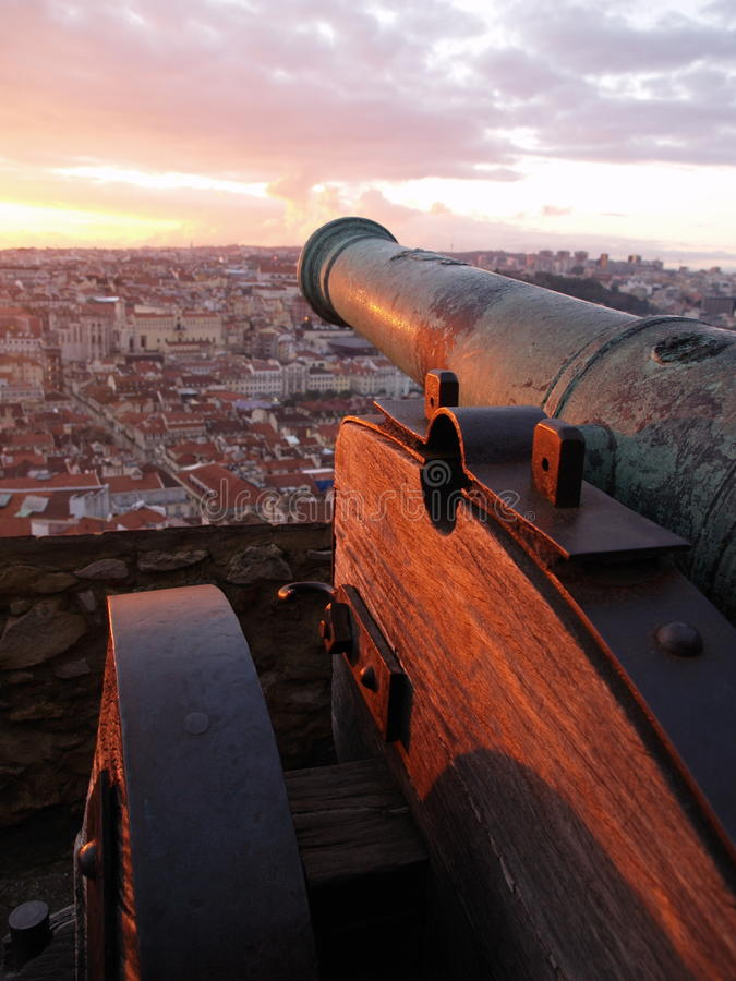 Castillo de San Jorge, Lisboa, Portugal fotografía de archivo libre de regalías