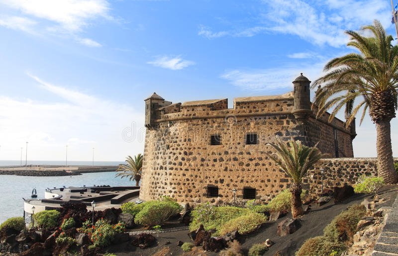Castillo de San Jose em Arrecife imagens de stock royalty free