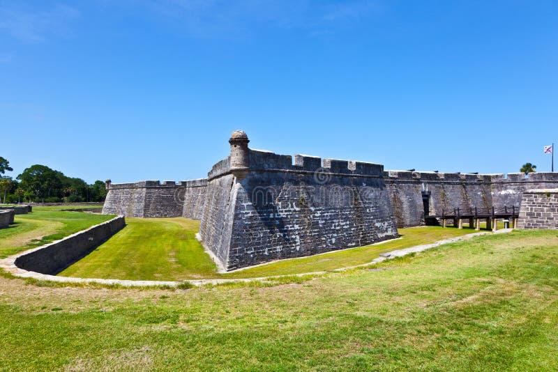 Castillo de San Marco - forte antigo em St Augustine fotos de stock