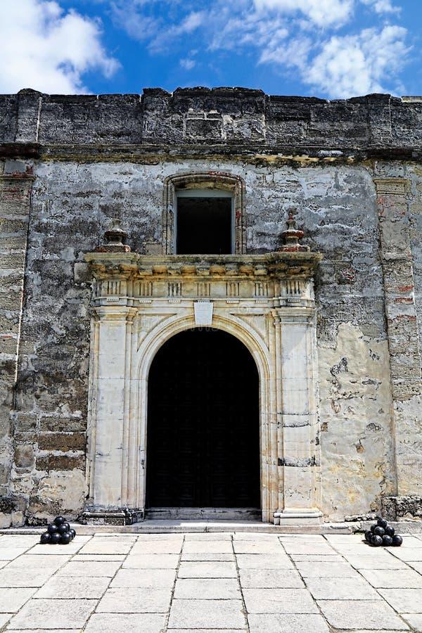 Castillo de SAN Marcos εσωτερικός τοίχος, ST Augustine στοκ εικόνα με δικαίωμα ελεύθερης χρήσης