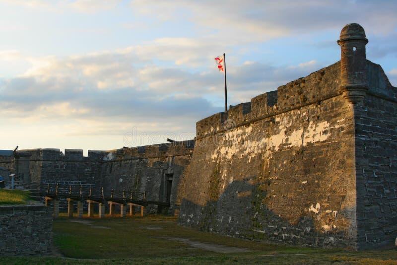 Castillo de San Marcos dans la rue Augustine photographie stock