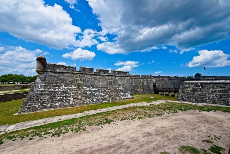 Castillo de San Marcos dans la rue Augustine, la Floride, Etats-Unis image libre de droits