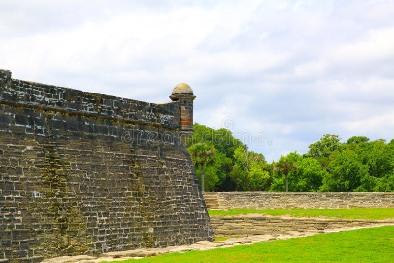 Castillo de San Marcos dans la rue Augustine, la Floride photos stock