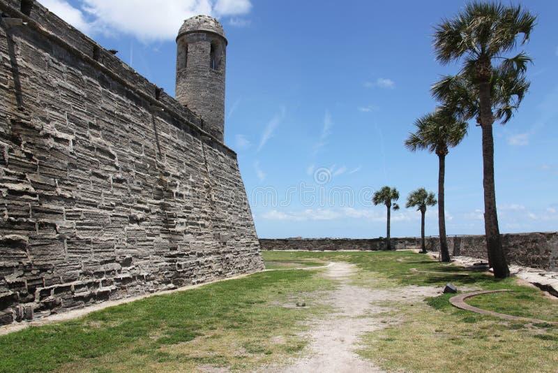 Castillo de San Marcos. National monument Castillo de San Marcos in st Augustine royalty free stock image