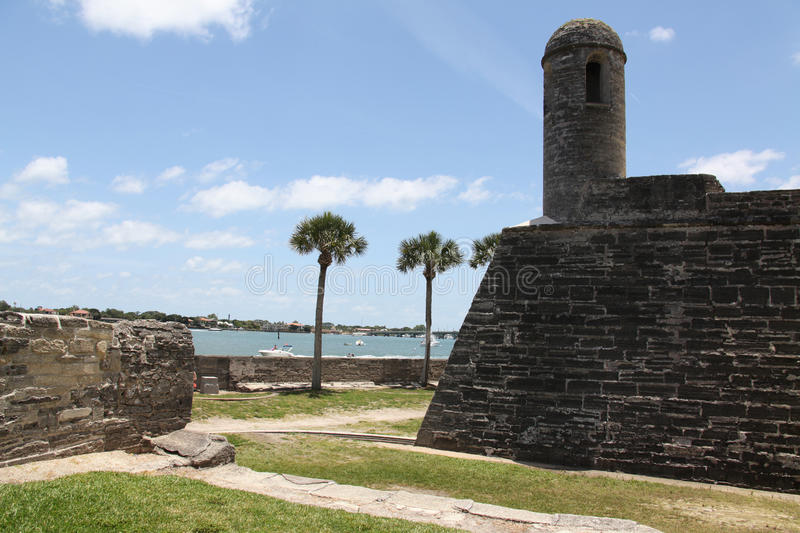 Castillo de San Marcos. National monument Castillo de San Marcos in st Augustine stock images