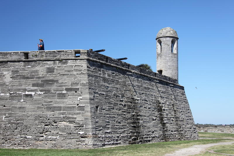 Castillo de San Marcos. National monument Castillo de San Marcos in st Augustine royalty free stock photos