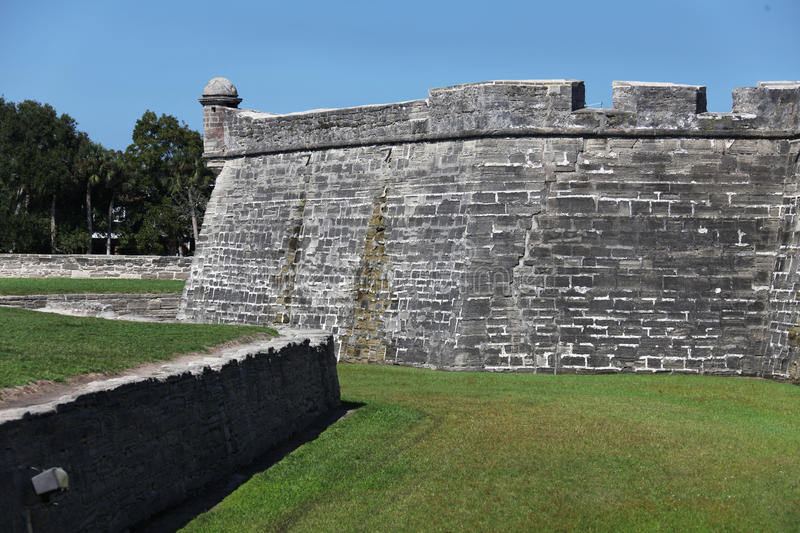 Castillo de San Marcos. National monument Castillo de San Marcos in st Augustine royalty free stock image