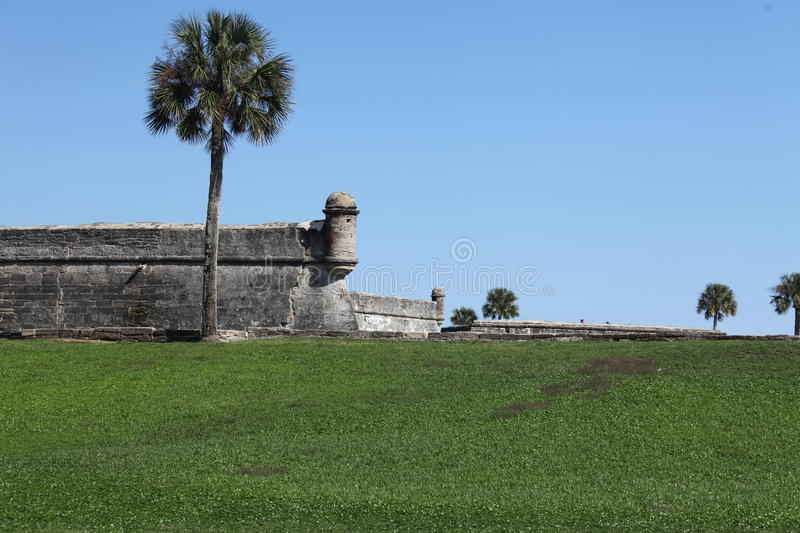 Castillo de San Marcos. National monument Castillo de San Marcos in st Augustine royalty free stock photo