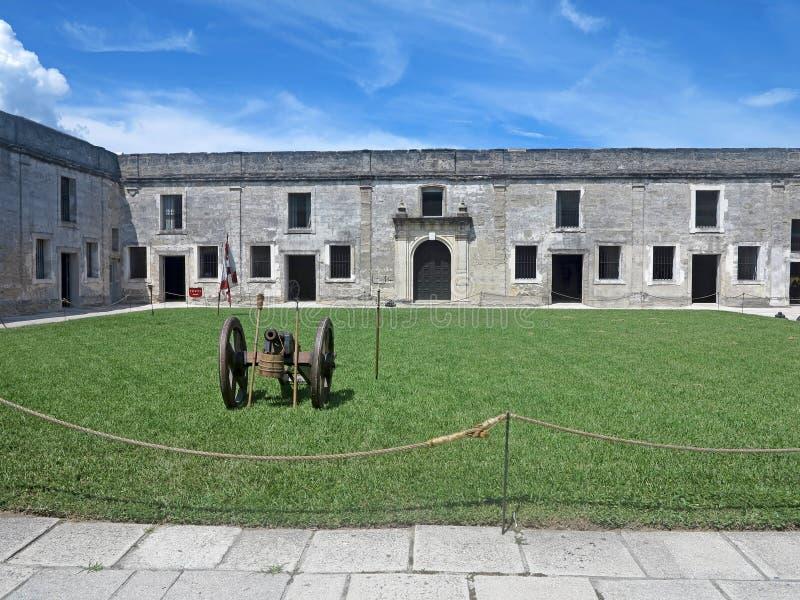 Castillo de San Marcos, rue Augustine, la Floride photos libres de droits