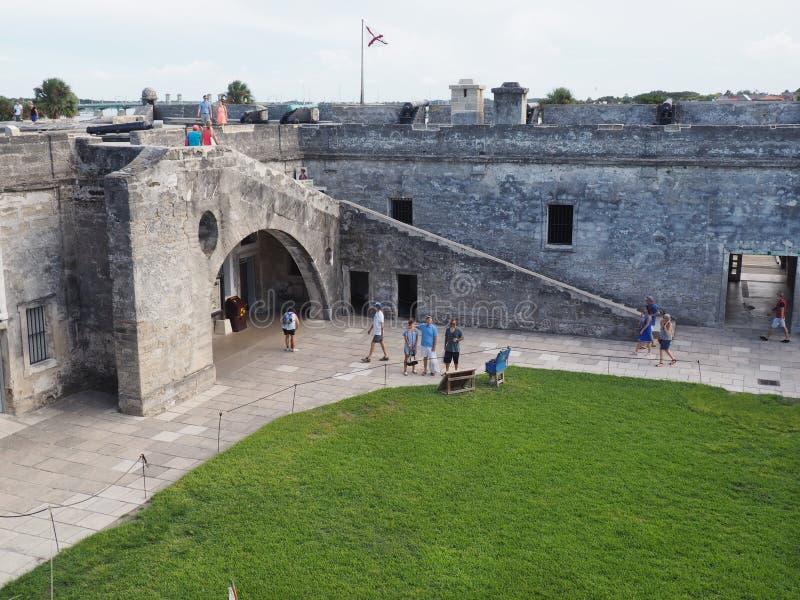 Castillo de San Marcos St Augstine Florda image stock