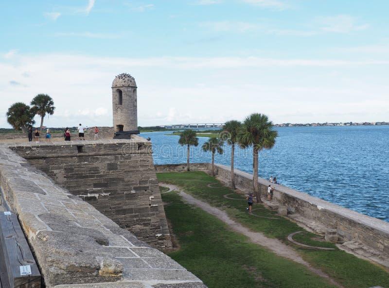 Castillo de San Marcos St Augstine Florda imágenes de archivo libres de regalías