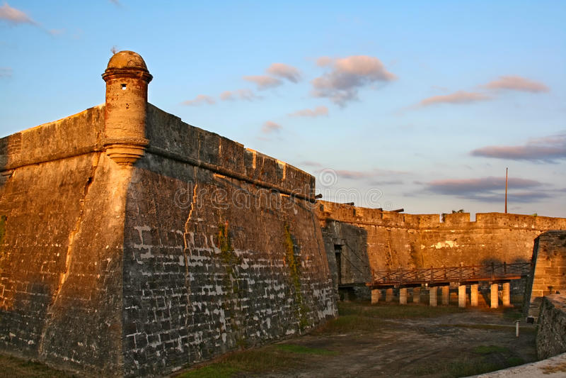 Castillo de San Marcos in st Augustine, Florida fotografia stock