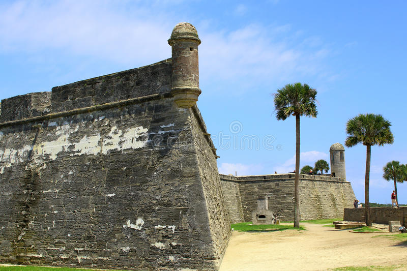 Castillo de San Marcos in St. Augustine, Florida. Ancient fort royalty free stock photography