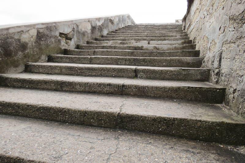 Castillo de San Marcos Stairway royaltyfria foton