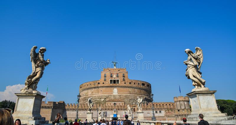 Castillo de San ?ngel en Vaticano foto de archivo