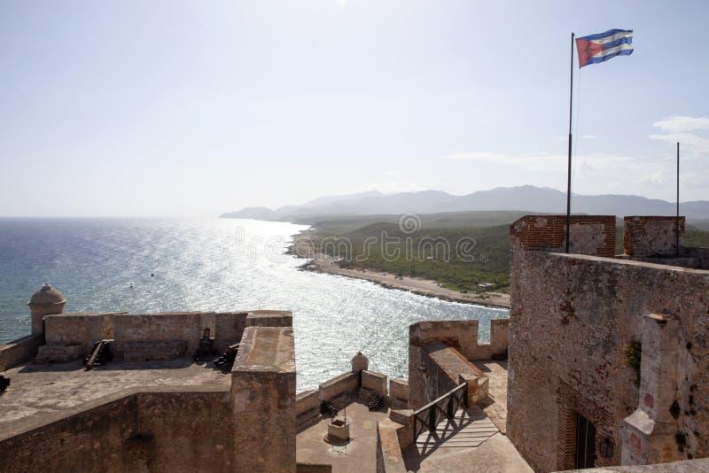Castillo De San Pedro de los angeles Roca Del Morro w Santiago de Kuba, Kuba - zdjęcia stock