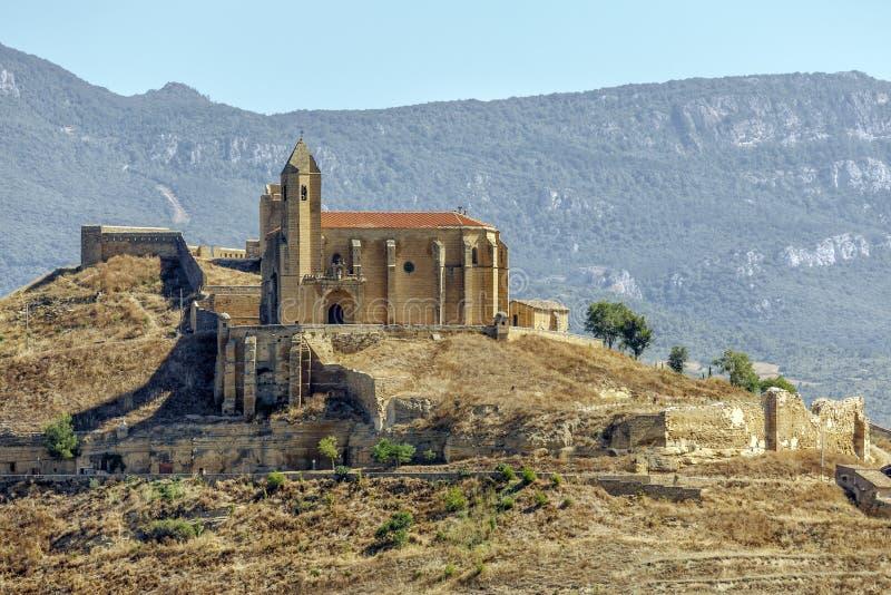 Castillo de San Vicente de la sonsierra en La Rioja fotos de archivo libres de regalías