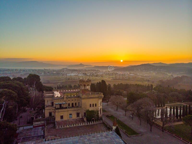Castillo de Sant Marçal en Cerdanyola espa?a foto de archivo libre de regalías