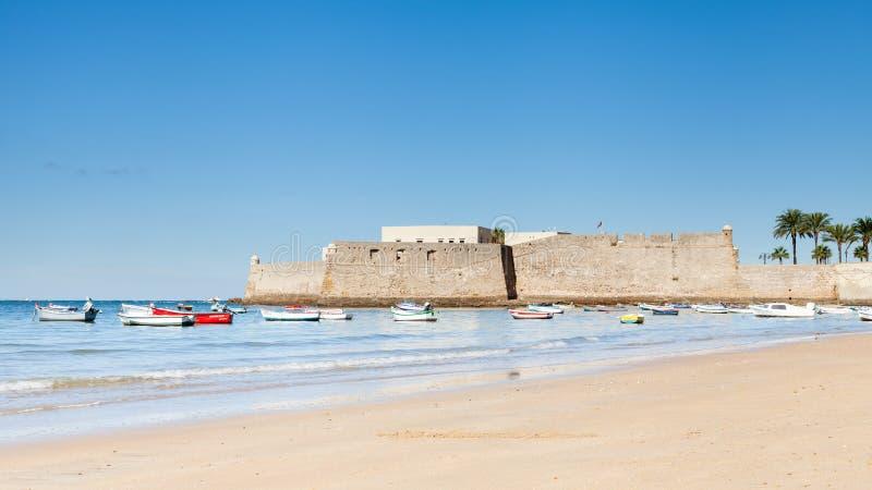 Castillo de Santa Catalina stock image