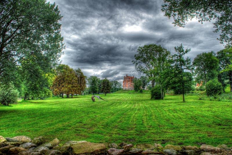 Castillo de Schloss Ulrichshusen foto de archivo