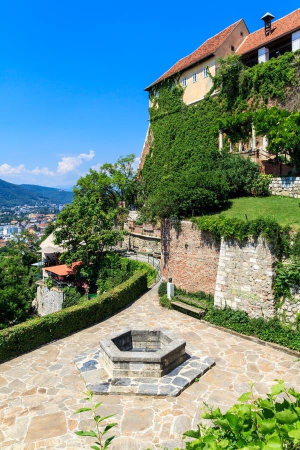 Castillo de Schlossberg en Graz, Austria imágenes de archivo libres de regalías