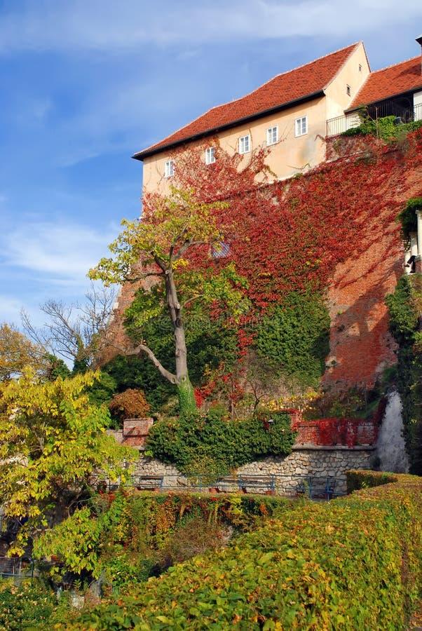 Castillo de Schlossberg en Graz - Austria imágenes de archivo libres de regalías