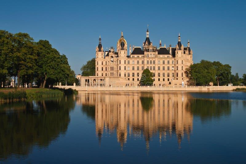Castillo de Schwerin. foto de archivo