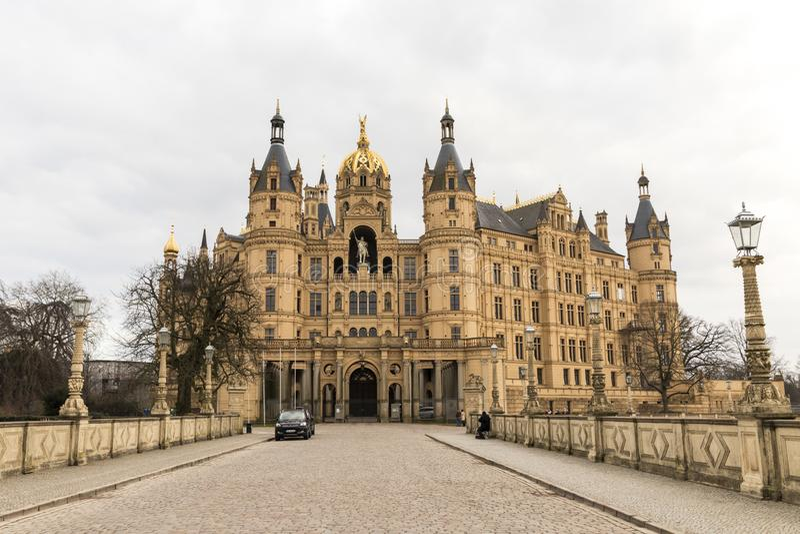 Castillo de Schwerin, Alemania fotografía de archivo libre de regalías