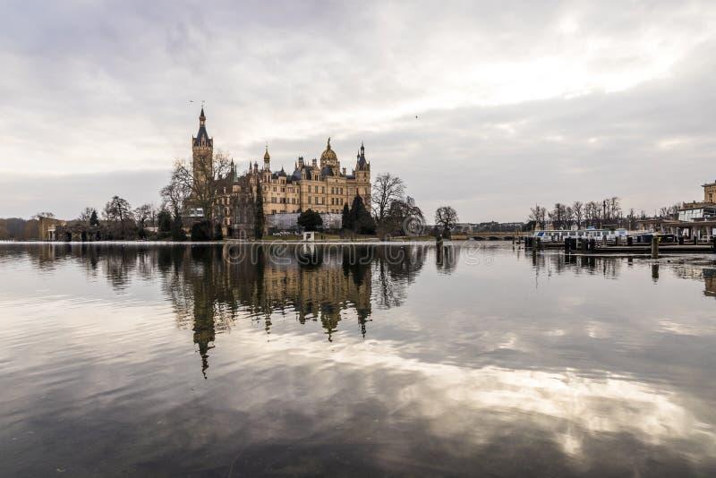 Castillo de Schwerin, Alemania imagenes de archivo