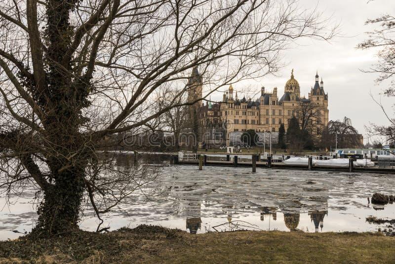 Castillo de Schwerin, Alemania fotos de archivo libres de regalías