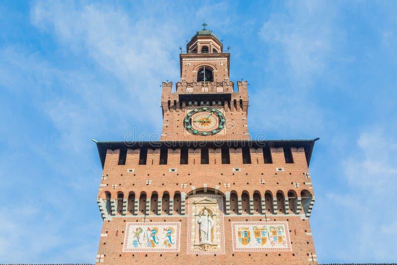 Castillo de Sforzesco de Milán imagen de archivo libre de regalías