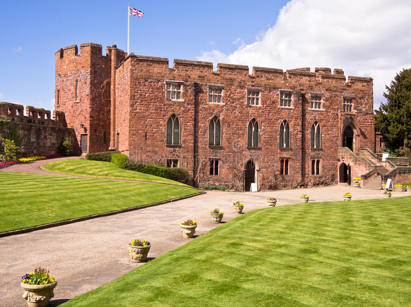 Castillo de Shrewsbury, Inglaterra foto de archivo libre de regalías