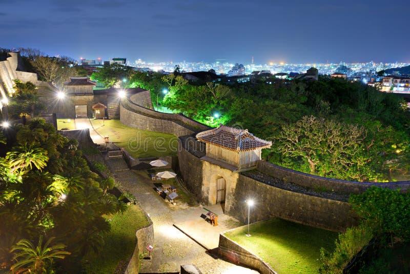 Castillo de Shuri en Okinawa, Japón imagen de archivo libre de regalías