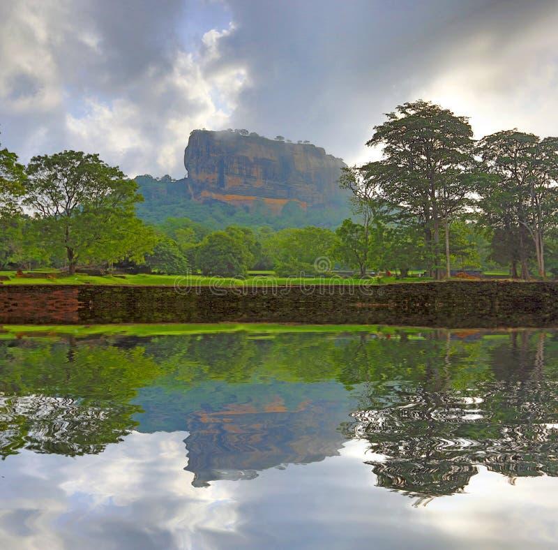 Castillo de Sigiriya fotos de archivo
