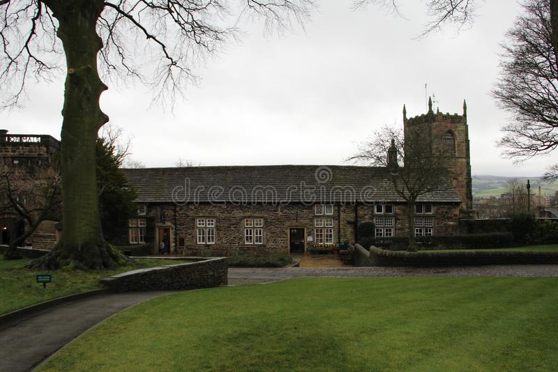 Castillo de Skipton en Skipton en el distrito de Craven de North Yorkshire, Inglaterra foto de archivo