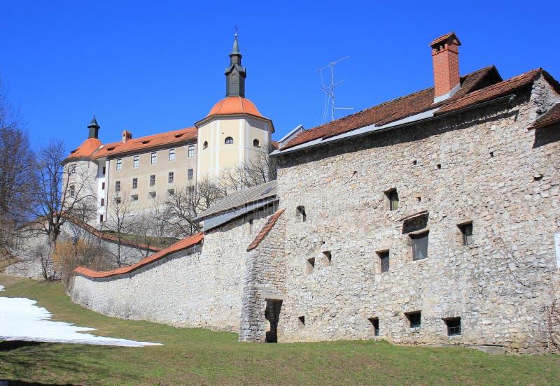 Castillo de Skofja Loka, Eslovenia foto de archivo