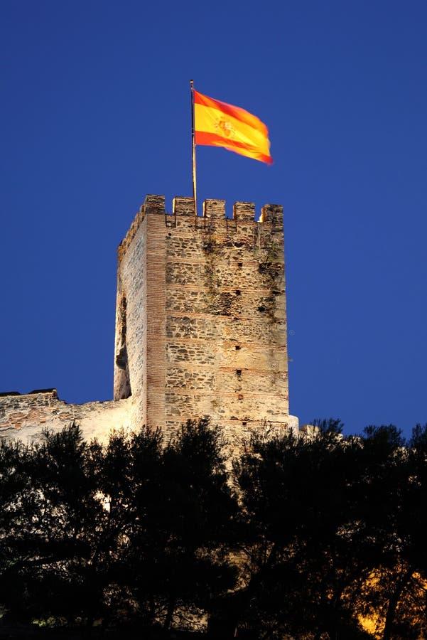 Castillo de Sohail in Fuegirola, Spanien stockbilder