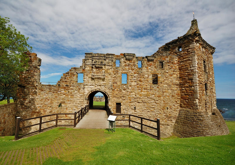 Castillo de St. Andrews, Escocia foto de archivo libre de regalías