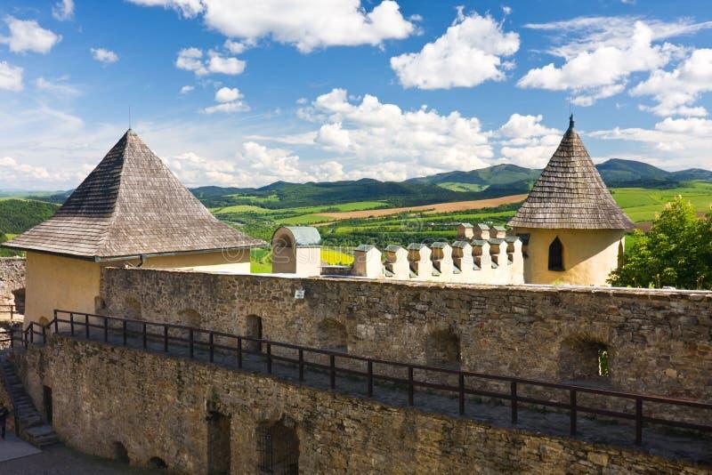 Castillo de Stara Lubovna, Eslovaquia foto de archivo libre de regalías