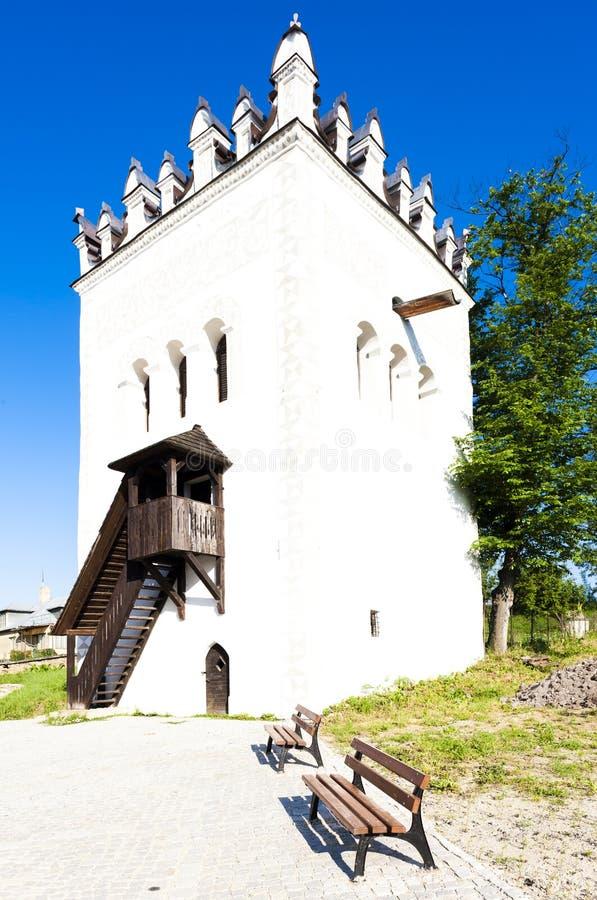 Castillo de Strazky, Eslovaquia imagen de archivo