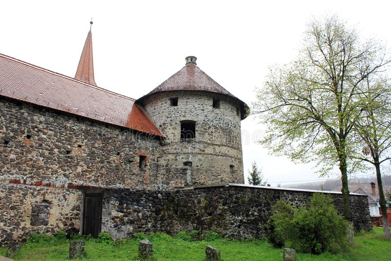 Castillo de Sukosd-Bethlen en Racos (torre de Wach) imagen de archivo