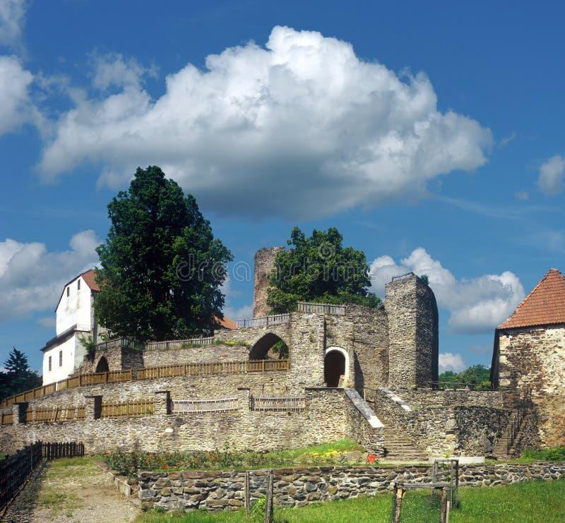 Castillo de Svojanov imagenes de archivo